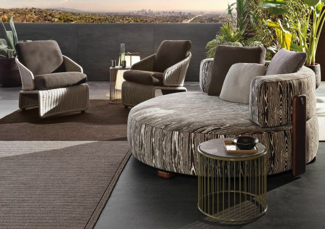 minotti outdoor furniture. VITA DI LUSSO Minotti Outdoor Florida Twin Sofa Furniture