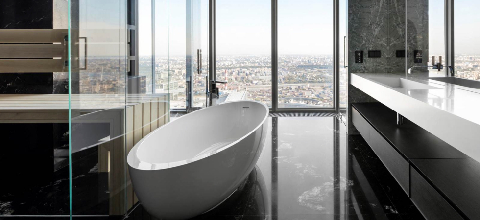 LEEM WONEN Minotti Oko Tower Moscow bathroom